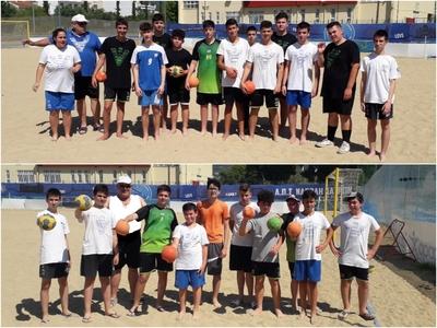 Και beach handball για τους μικρούς της ...