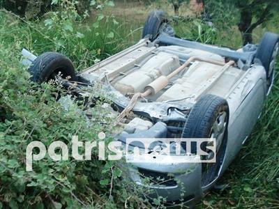 Τούμπαρε το αμάξι της και βγήκε σώα!