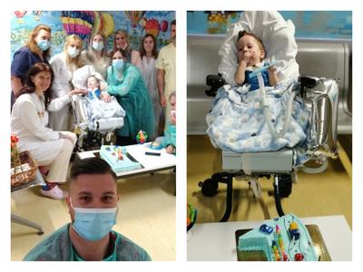 Τα πρώτα γενέθλια του μικρού Ηλία Στυλιανού, στο νοσοκομείο του Ρίου! ΦΩΤΟ