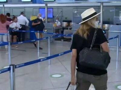 Η εγκυμονούσα Τζένη Μπαλατσινού στο αερο...