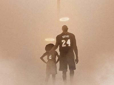 Συγκλονιστικό σκίτσο του Κόμπι και της κόρης του - ΦΩΤΟ