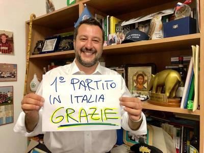 Πρώτη δύναμη στην Ιταλία το κόμμα Σαλβίνι