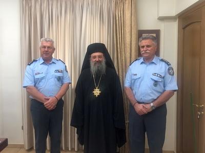 Oι νέοι Αστυνομικοί Διευθυντές Δυτ. Ελλάδας & Αχαΐας πήγαν στον Μητροπολίτη Πατρών