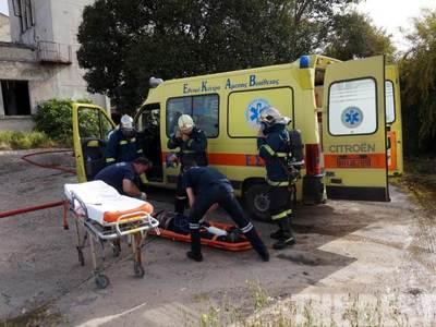 Τροχαίο με τραυματισμό δικυκλιστή στην Κανακάρη - Τον παρέλαβε το ΕΚΑΒ