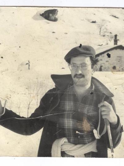 Ο Γιώργος Μάρκου, φοιτητής νομική, στο χιονοδρομικό κέντρο Καλαβρύτων