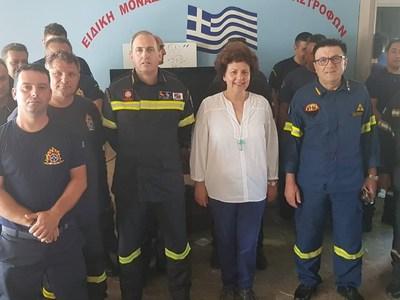Αθηνά Τραχήλη: Παροιμιώδες το  φιλότιμο του Έλληνα πυροσβέστη
