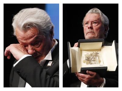 Ο Αλέν Ντελόν πήρε με δάκρυα στα μάτια τον τιμητικό Χρυσό Φοίνικα στις Κάννες