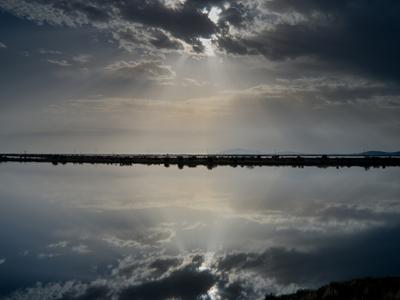Ονειρικές αντανακλάσεις στη λιμνοθάλασσα...