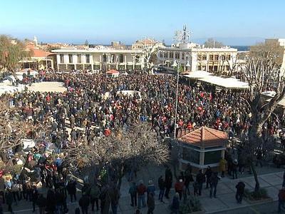 Χίος: Συγκέντρωση κατά της δημιουργίας της νέας δομής προσφύγων και μεταναστών