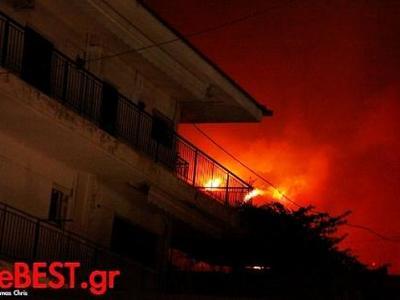 Αχαΐα: Η χθεσινή μέρα και νύχτα της  μεγάλης αγωνίας -  Δείτε το χρονικό της μεγάλης φωτιάς - ΦΩΤΟ ΚΑΙ ΒΙΝΤΕΟ