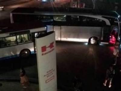Συγκρούστηκαν δύο λεωφορεία στην Κανελλοπούλου