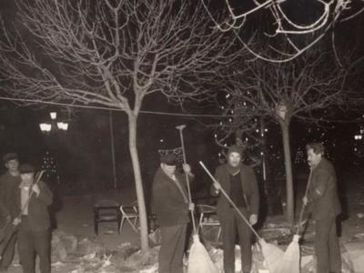 Σκούπισμα τα Χριστούγεννα- Διακρίνονται...