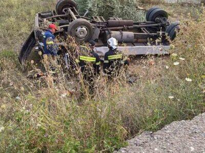 Αγρίνιο: Φορτηγάκι ανετράπη εκτός δρόμου...