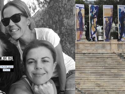 Aγγελική και Μαρίνα Δούρου στο Dior show...