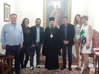 Την ευλογία του Μητροπολίτη Πατρών Χρυστοστόμου έλαβε ο Γρηγόρης Αλεξόπουλος