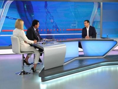 Περισσότεροι από 1 εκ. τηλεθεατές είδαν τη συνέντευξη Τσίπρα στον Σκάι
