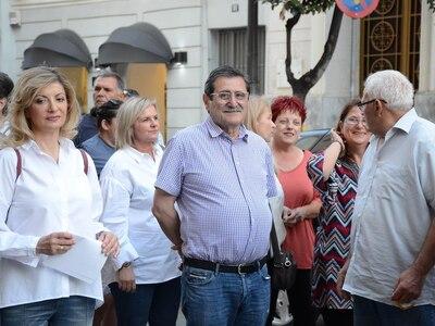 Ο Κώστας Πελετίδης στην κινητοποίηση για την ενίσχυση της δημόσιας υγείας