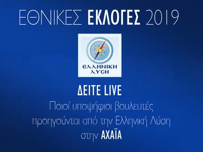 Ελληνική Λύση: Ποιοι υποψήφιοι βουλευτές προηγούνται στην Αχαΐα - LIVE