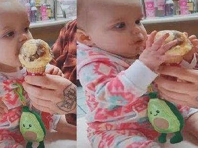 Μωράκι δοκιμάζει παγωτό και... τρελαίνεται -ΒΙΝΤΕΟ