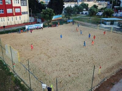 Εντυπωσιακές εικόνες από το νέο γήπεδο beach soccer «Σπύρος Αβράμης»