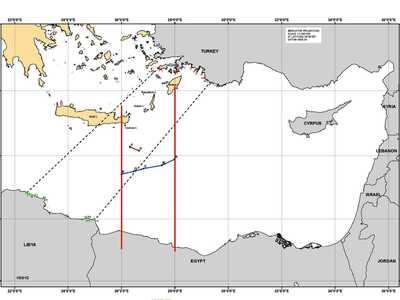 Ο χάρτης της συμφωνίας για την ΑΟΖ Ελλάδ...