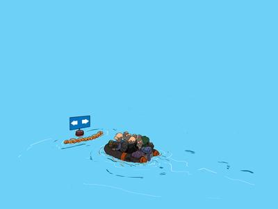 Τα... πλωτά φράγματα στο Αιγαίο με το πενάκι του Dranis
